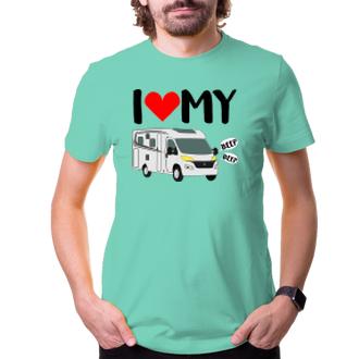 Cestování Pánské tričko Love my obytňák