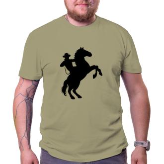 Koně a koňáci Pánské tričko Kovboj silueta