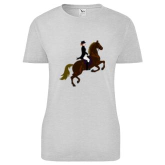 Koně a koňáci Dámské tričko Drezura