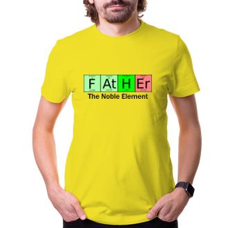Pro tatínky Tričko pro taťky chemiky Noble element
