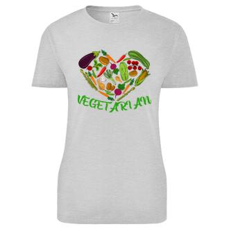 Vegetariáni a vegani Dámské tričko Vegetarian