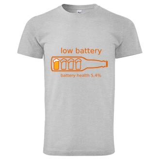 Pánské triko Low battery