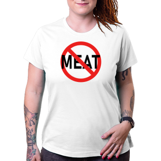 Vegetariáni a vegani Tričko pro vegetariány No meat