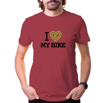 Cyklisté Tričko na kolo I love my bike