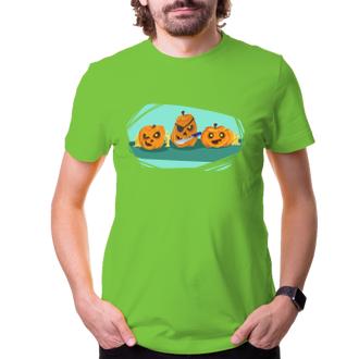 Halloween Pánské triko Pirátské dýně