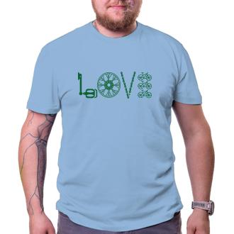 Cyklisté Pánské tričko Love cycling