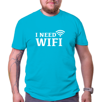 Tričko I need wifi