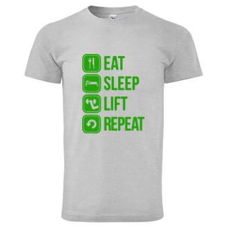 Tričko do fitka Eat-sleep-lift-repeat