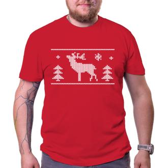 Vánoční tričko se sobem