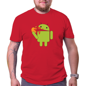 Tričko Android eats Apple