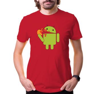 Tričko Android eats Apple