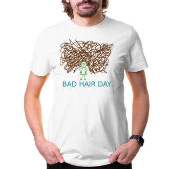 Vtipná trička Tričko Bad hair day