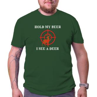 Myslivci Pánské tričko Hold my beer