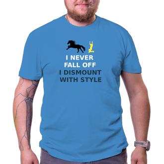 Koně a koňáci Pánské tričko I never fall off