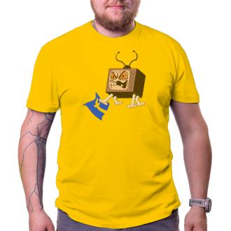 Pánské tričko Edna televizní bedna versus FB