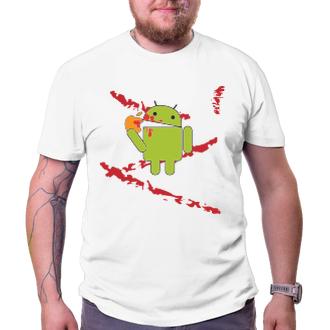 Pánské tričko Android eats Apple - bloodbath