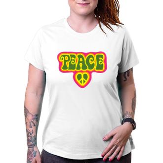 Citáty a hlášky Dámské triko Peace & love