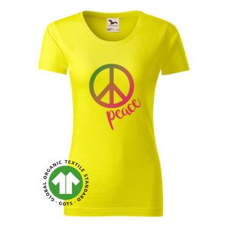 Citáty a hlášky Dámské organické tričko Peace