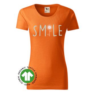 Humor Dámské organické tričko Smile