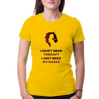 Dívčí tričko I just need my horse