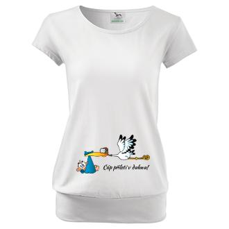 Pro těhotné Tričko pro těhotné Čáp
