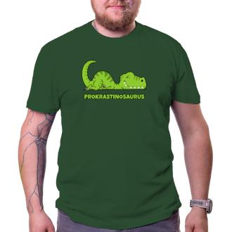 Vtipné tričko Prokrastinosaurus
